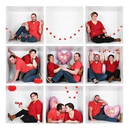 Valentýnské fotografování jednotlivce, páru, rodiny či kamarádů v boxu