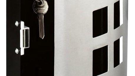 ZELLER Kovový box pro klíče SQUARE, 24x22x6 cm