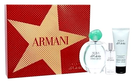 Giorgio Armani Acqua di Gioia dárková kazeta pro ženy parfémovaná voda 100 ml + tělové mléko 75 ml + parfémovaná voda 15 ml