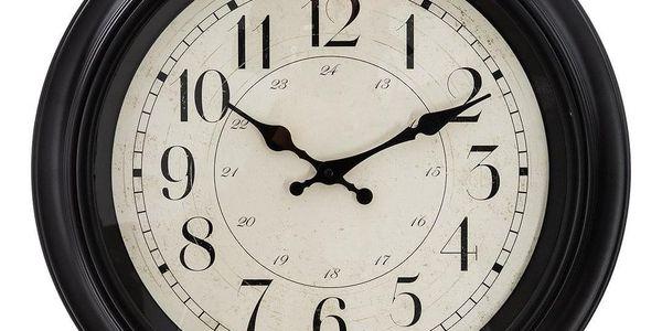 Atmosphera Nástěnné retro hodiny, ideální a tiché hodiny s nebývalým grafickým designem