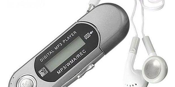 MP3 přehrávač podporující paměť až 32 GB - Černá - dodání do 2 dnů