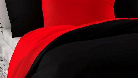 Kvalitex Saténové povlečení Luxury Collection červená / černá