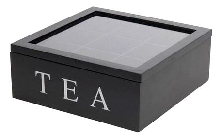Koopman Box na čajové sáčky, černá