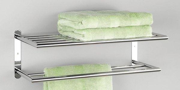 Věšák na ručníky, koupelnová polička, 2 v 1, ZELLER2