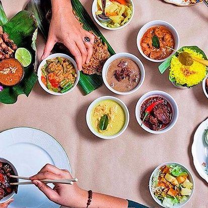 Degustační indonéské menu pro dva: s masem či vege