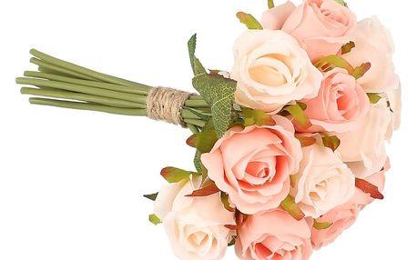 Dakls Umělá kytice růží, světle růžová