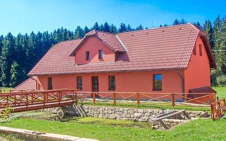 Vysočina: Penzion Dočkalův Mlýn u Havlíčkova Brodu s privátním wellness a polopenzí