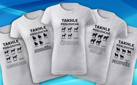 Dámská trička pro milovnice psů: 12 psích ras
