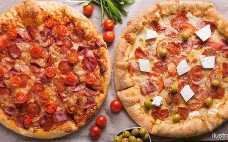 Pizza Margarita či 2 pizzy dle výběru z 10 druhů