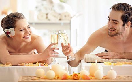 90 minut odpočinku pro pár: masáž, lázeň i sekt