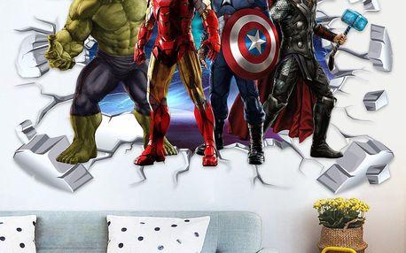 Samolepky Avengers v různých rozměrech i 3D provedení na zeď