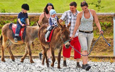 Rodinný pobyt na Farmě Blaník plné zvířátek