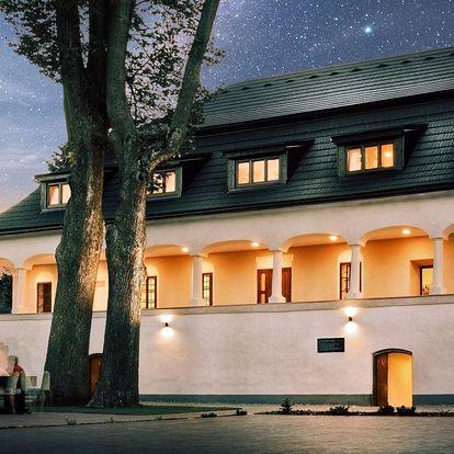 Barokní zámeček na Slovensku: pobyt s polopenzí
