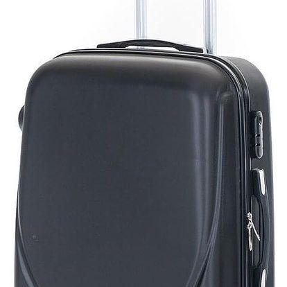 Pretty UP Cestovní skořepinový kufr ABS16 M, černá