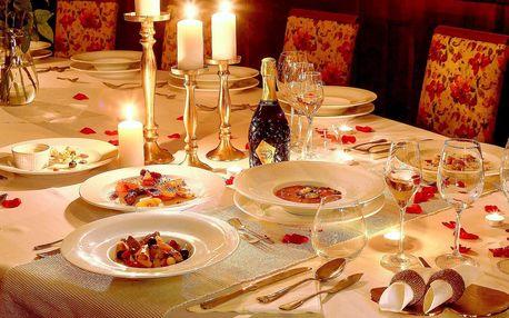 Středomořské 5chodové menu: svíčky a přípitek