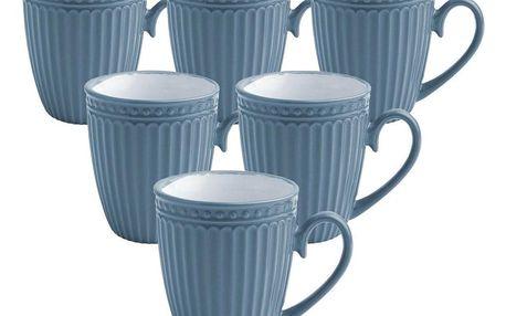 Florina Sada keramických hrnků Doric 330 ml, 6 ks, modrá