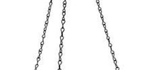 Samozavlažovací závěsný květináč Mareta, zelená, 25 cm, Plastia3