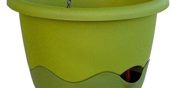 Samozavlažovací závěsný květináč Mareta, zelená, 25 cm, Plastia