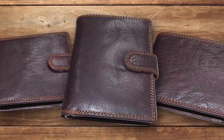 Pánské peněženky z prémiové kůže s ochranou karet