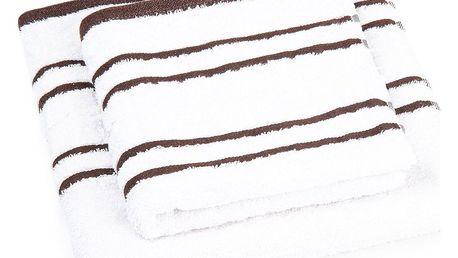 Profod Sada ručníku a osušky Snow hnědá, 50 x 100 cm, 70 x 140 cm