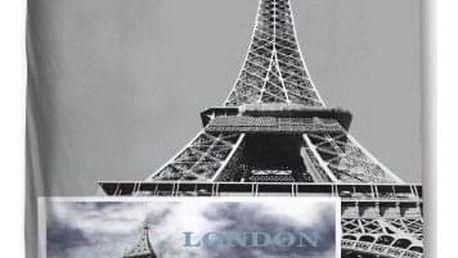3D povlečení London / Paris šedá