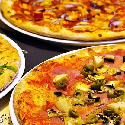 Chuť Itálie: 2 pizzy z pece na dřevo dle výběru