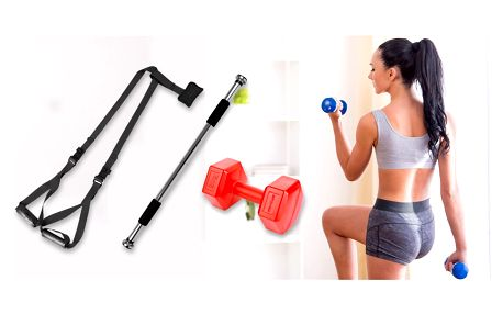Pro pevné svaly: hrazda, činky i závěsný systém