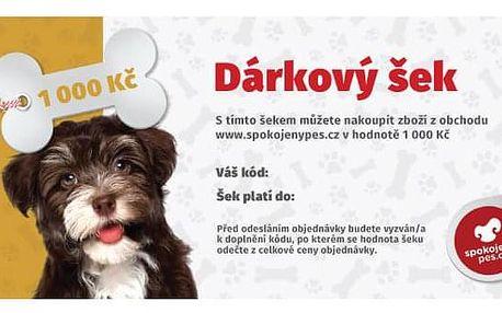 Dárkový poukaz SpokojenyPes.cz 1000 Kč