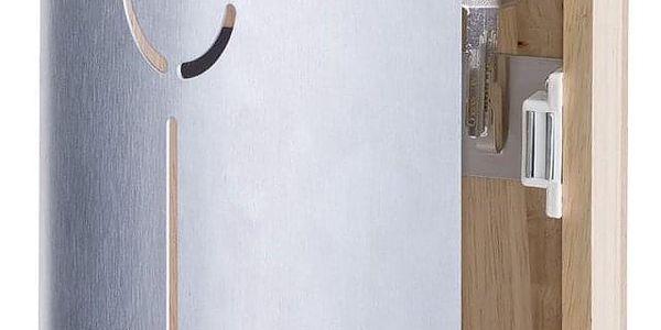 Věšák pro zavěšení klíčů ze dřeva a kovu KEYS, 25x22x5 cm, ZELLER