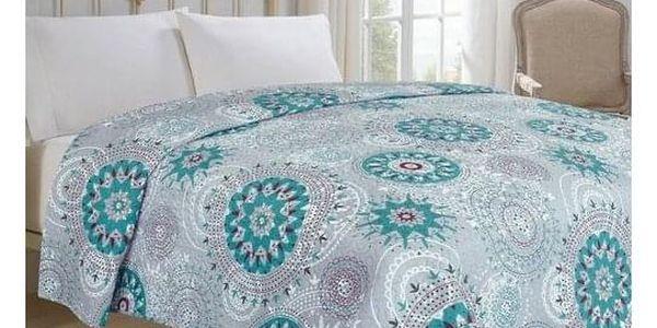 Jahu Přehoz na postel Debie tyrkysová, 220 x 240 cm