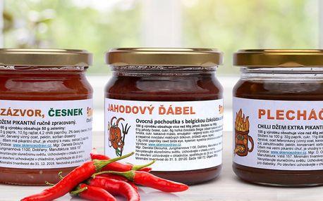Balíčky chilli džemů z českého ovoce i zeleniny