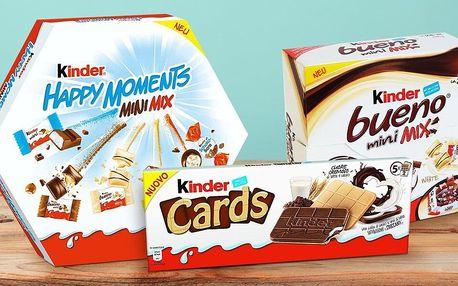 Čokolády Kinder: Cards, Bueno, Happy Moments