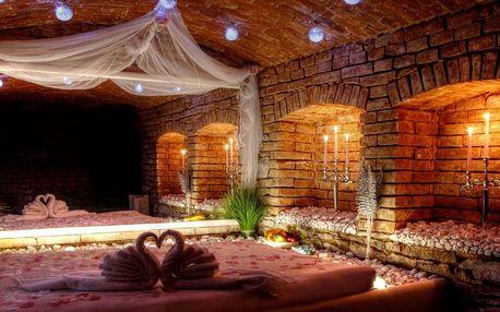Luxusní wellness romantika pro 2 s občerstvením