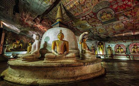 Srí Lanka letecky na 11 dnů, strava dle programu
