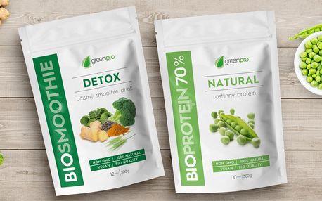 Bio očistný smoothie drink a rostlinný protein