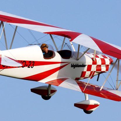 Pilotování otevřeného dvouplošníku Highlander