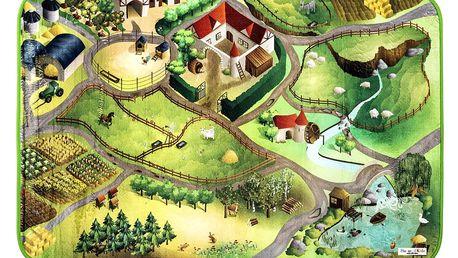 Vopi Dětský koberec Ultra Soft Farma, 130 x 180 cm