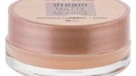 Maybelline Dream Matte Mousse SPF15 18 ml sametový matující makeup pro ženy 10 Ivory