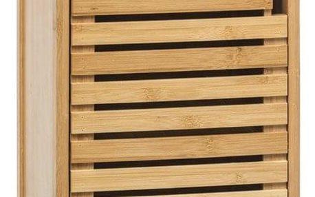 5five Simple Smart Bambusový stojan pro koupelnu, skříňka s policemi ve skandinávském stylu