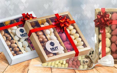 Mandlový sen v čokoládě: kornout či bonboniéra