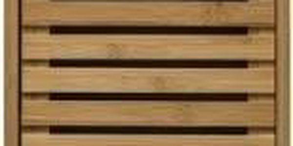 5five Simple Smart Bambusový stojan pro koupelnu, skříňka s policemi ve skandinávském stylu2