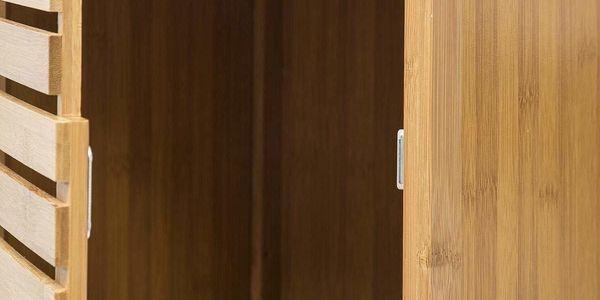 5five Simple Smart Bambusový stojan pro koupelnu, skříňka s policemi ve skandinávském stylu3