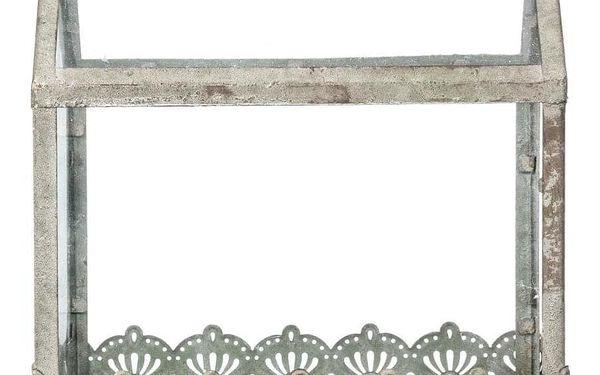 Emako Dekorativní skleník, domácí skleník, kovovy skleník, foliovník, mini skleník, balkónový skleník, domek GLASS HOUSE - sada, 2 ks5