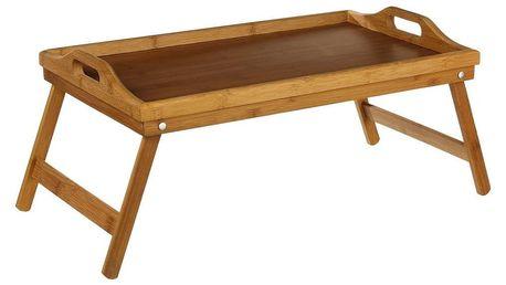 Secret de Gourmet Bambusový rozkládací stoleček, 38x51 cm