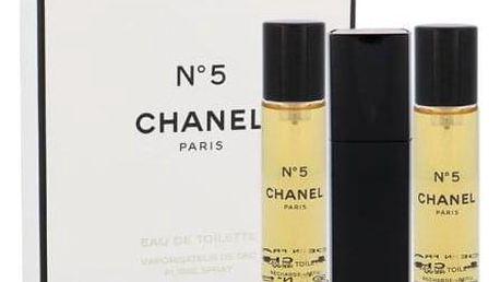 Chanel No.5 3x 20 ml 20 ml toaletní voda Twist and Spray pro ženy