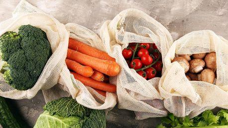 Síťovaný pytlík z bavlny na ovoce či zeleninu