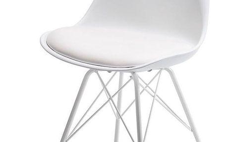 Jídelní židle JUSTIN bílá