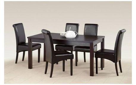 Dřevěný jídelní stůl Ernest II 160 cm wenge
