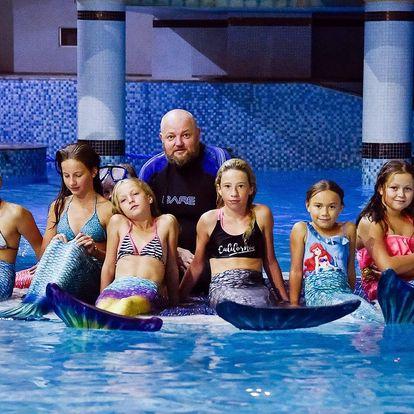 Hodinový kurz plavání v kostýmu mořské panny