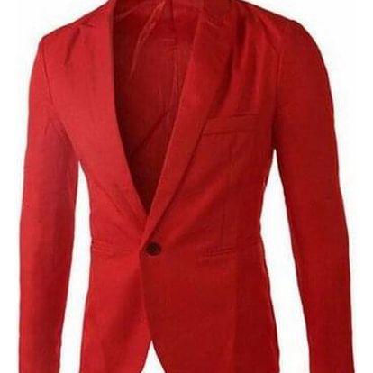 Pánské sako v mnoha barvách - Růžová-velikost č. 7 - dodání do 2 dnů